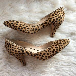 Loeffler Randall calf hair pumps heels 10B